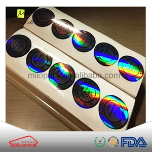 China factory customized Eco-friendly waterproof pround laser lohogram sticker