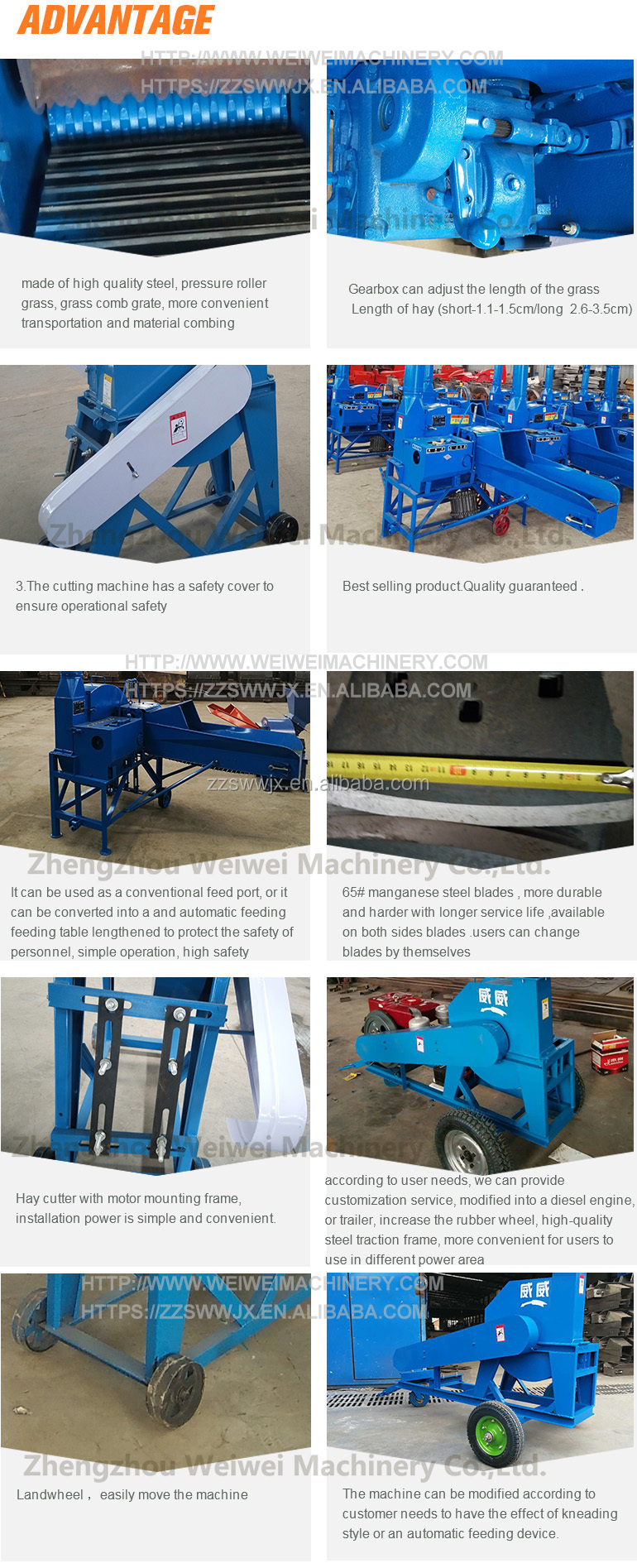 Weiwei capacity 3t cat tail cutting feed animal