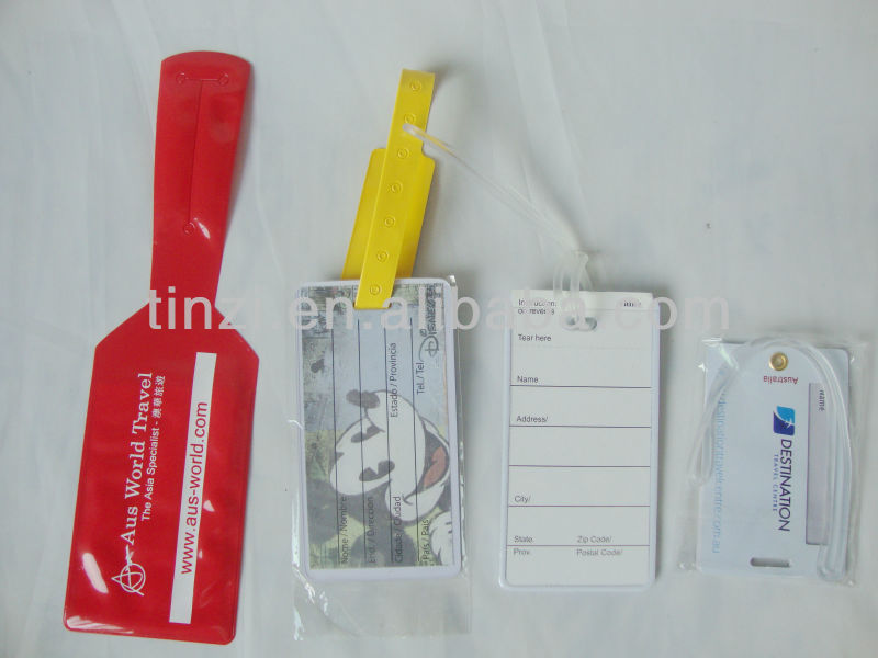 Promotion fashion airline paper baggage tag