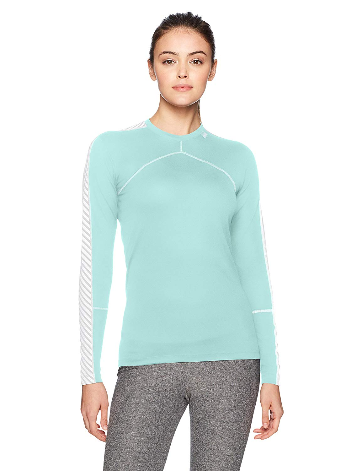 b927286f7c Get Quotations · Helly Hansen Women's LIFA Stripe Crew Neck Long Sleeve Lightweight  Breathable Moisture Wicking Thermal Baselayer Top
