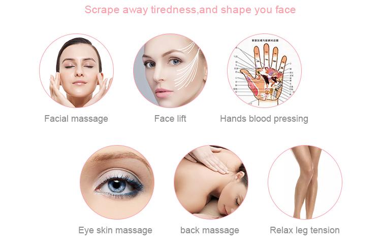 Self massage tool Amazon ebay one step shop Jade amethyst Guasha Massager Gua Sha Scraping Tool