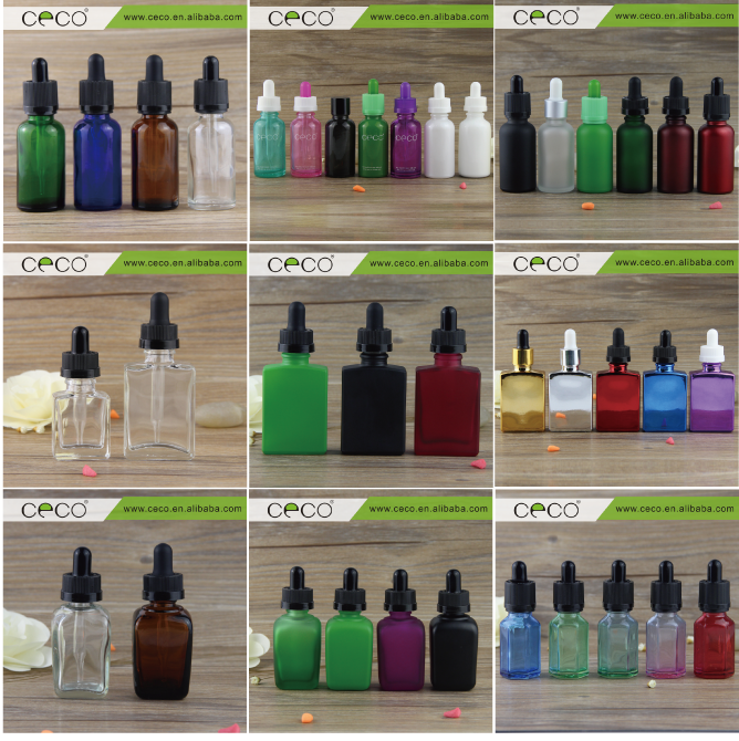 essential oil beard oil e vape liquid 1 ounce glass dropper 30 ml e juice printed glass bottle rectangular