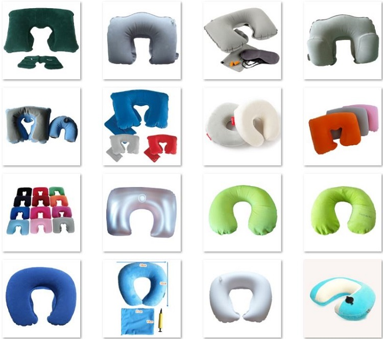 Eco-friendly PVC Inflatable Spa Bath Pillow Waterproof
