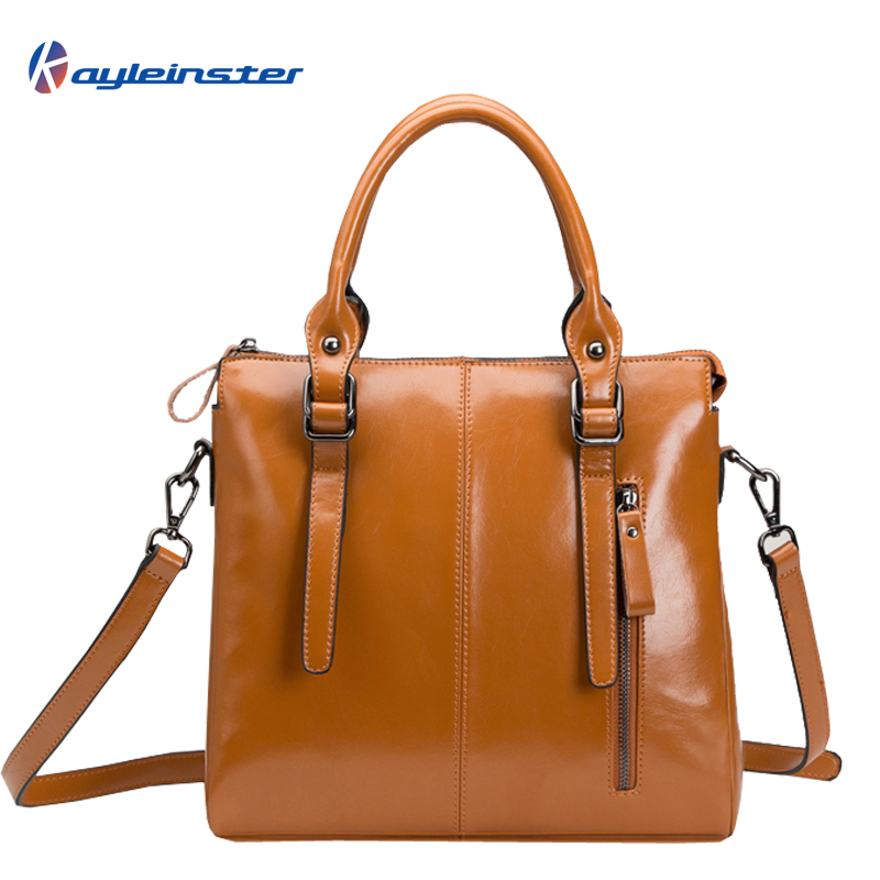 2015 Fashion Brand Oil wax Leather Women Handbag Retro Casual Women Single Shoulder Bag Composite leather Large Capacity Tote