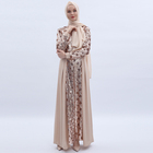 2019 Muslim Islamic clothing luxury ladies long-sleeved dress Dubai high-density sequin embroidery fashion dressing
