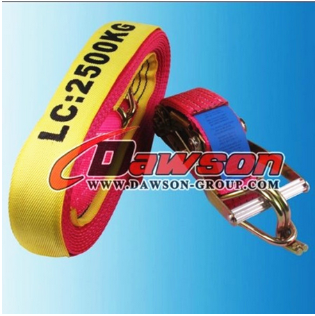 HIGH QUALITY PRODUCT RATCHET TIE DOWN WITH DOUBLE J HOOK 2''*27' RATCHET STRAPS FOR SALE
