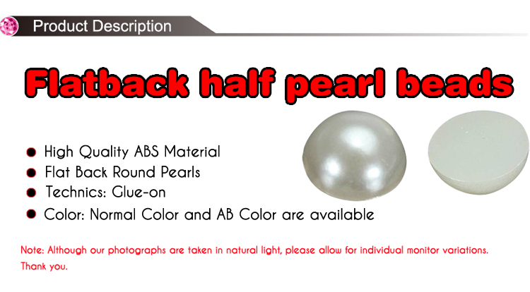 High Quality Half Round Loose Flat Back Resin Pearl for Jewelry Making, Z36-Dark Coffee