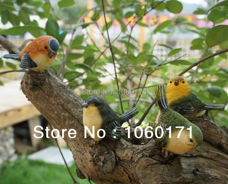 decorativi da giardino animali resina uccelli decorazione