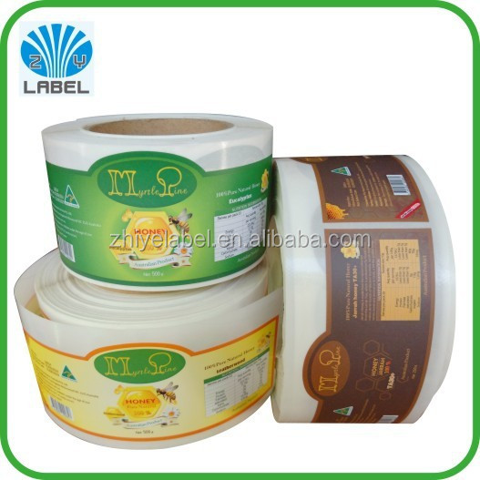 OEM brand OEM pattern accept honey jar label designs with your own logo sticker