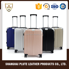 Black high quality aluminium alloy trolley and hard case luggage suitcase