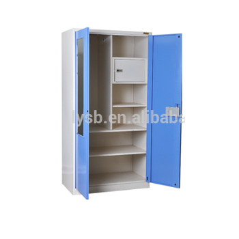 Knock Down Design Safe Box Inside Double Swing Doors Steel Clothes