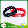 Hot selling spiral monochrome cheap silicone bracelet