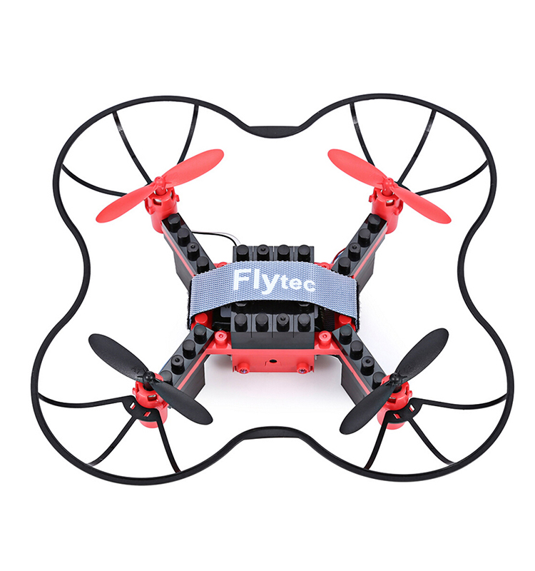10. T11S_Red_WIFI_FPV_DIY_Building_Blocks_Drone_with_0.3MP_Camera_RC_Drone