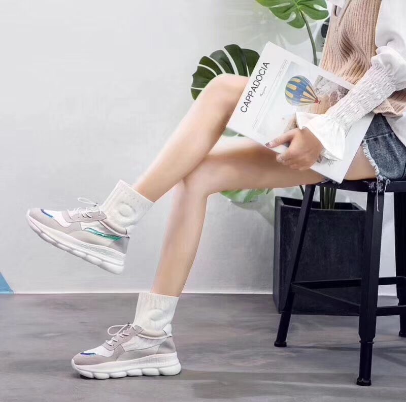 woven wild breathable mesh lace socks casual sports shoes elastic Flying women wPIqada