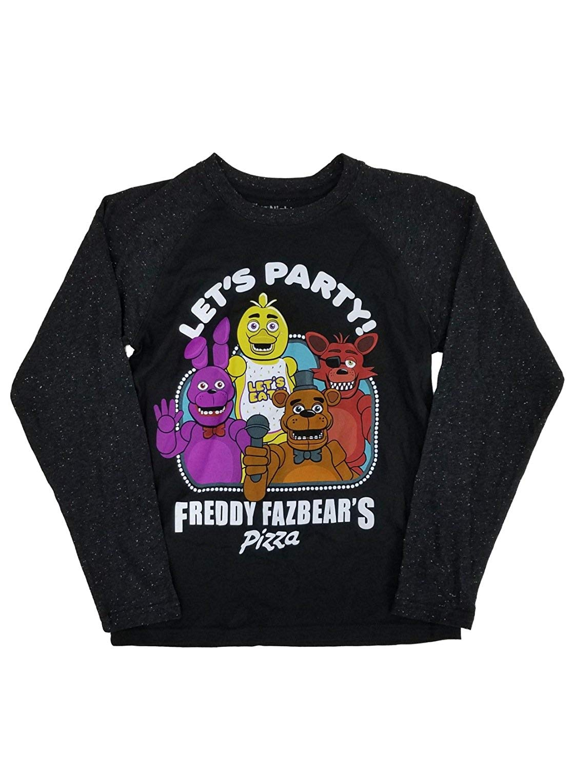 43ae09b3296 Get Quotations · Five Nights at Freddy's Boys Fazbears Pizza Raglan Tee  Long Sleeve T-Shirt