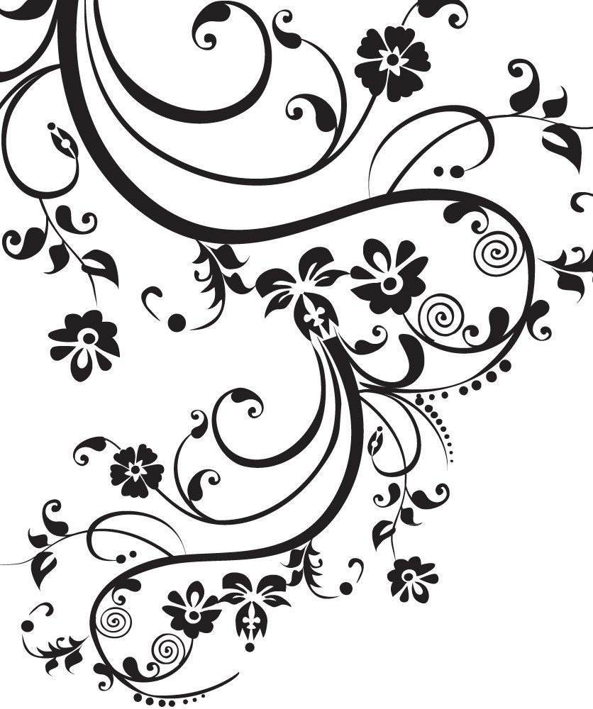 Buy Stickerbrand Floral D 233 Cor Swirl Designs Vinyl Wall Art