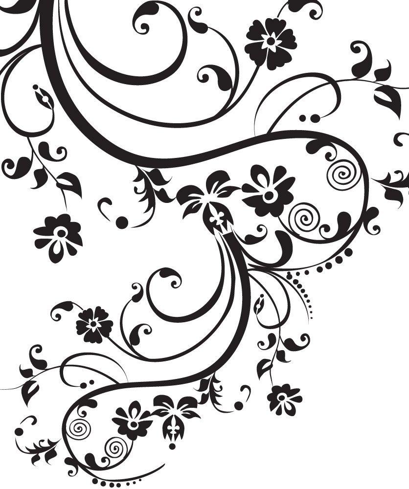 Stickerbrand Floral Décor/Swirl Designs Vinyl Wall Art Swirl Flower Floral Design Wall Decal Sticker  sc 1 st  Alibaba & Buy Stickerbrand Floral Décor/Swirl Designs Vinyl Wall Art Swirl ...