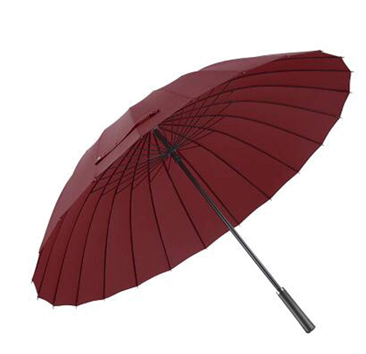 0e3bf25284881 Get Quotations · Large Women Umbrella Rain Women 24K Windproof Male Walking Stick  Umbrellas Men Leather Golf Sun Paraguas