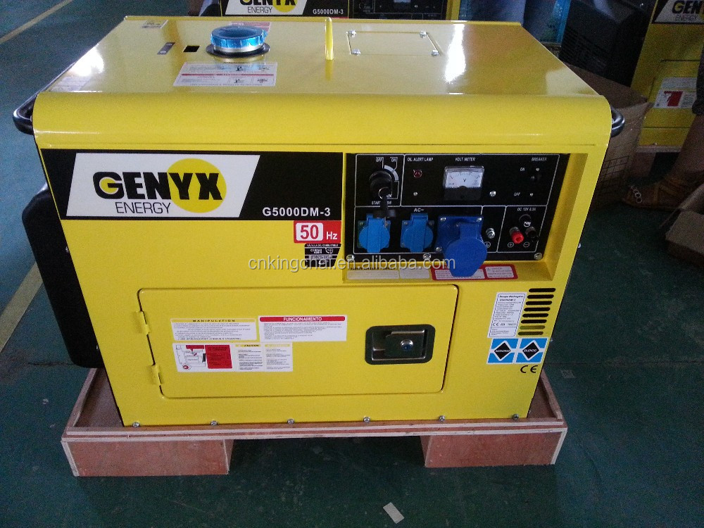 KINGCHAI Power Factory 5kw/5kva Air Cooled Silent Diesel Generator And Spare Parts