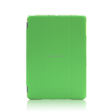 apple green PU leather case with stand vision for ipad mini