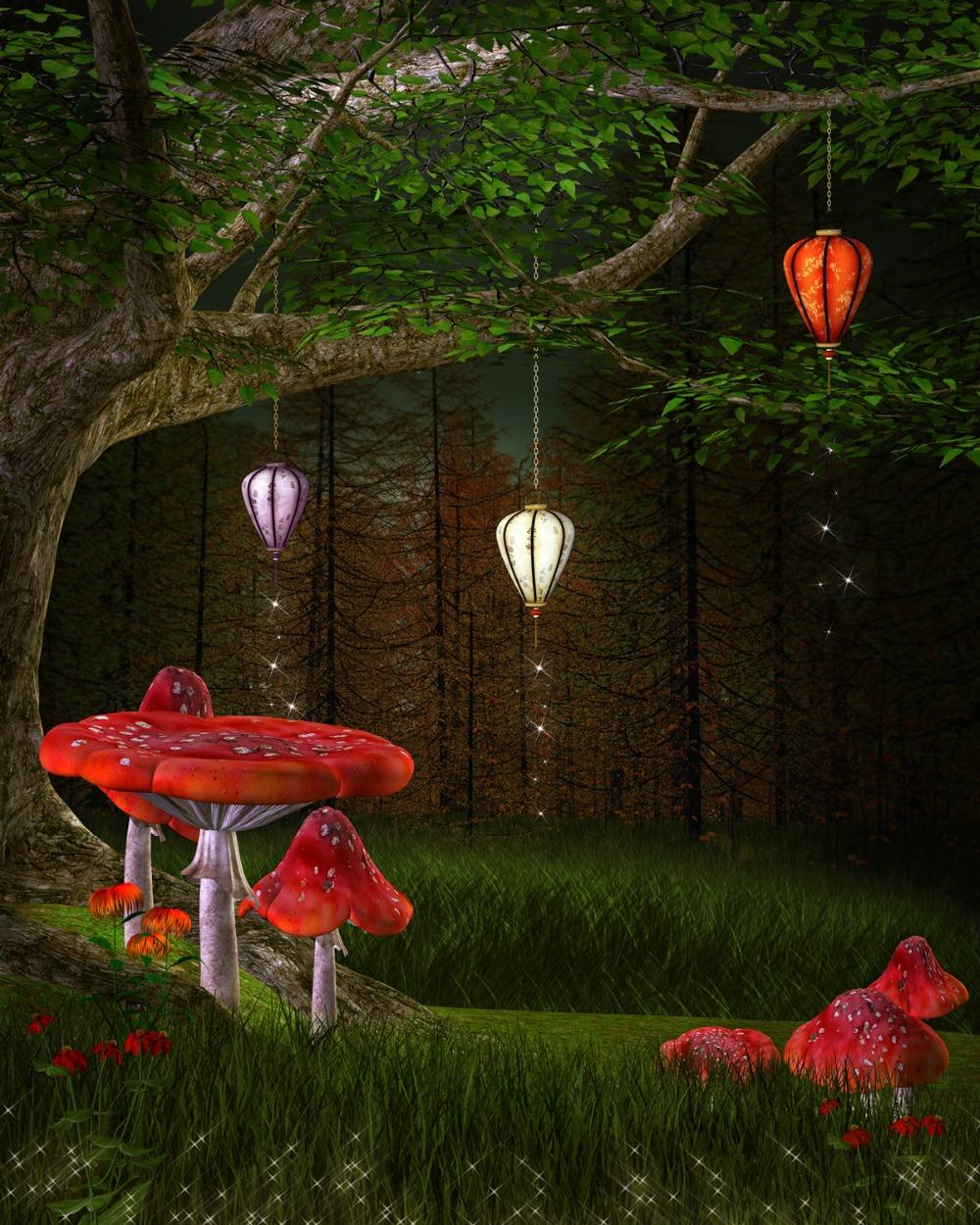 enchanted mushroom wallpaper - photo #20