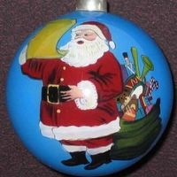 Hand Painted Indoor Christmas Water Glass Hanging Ball