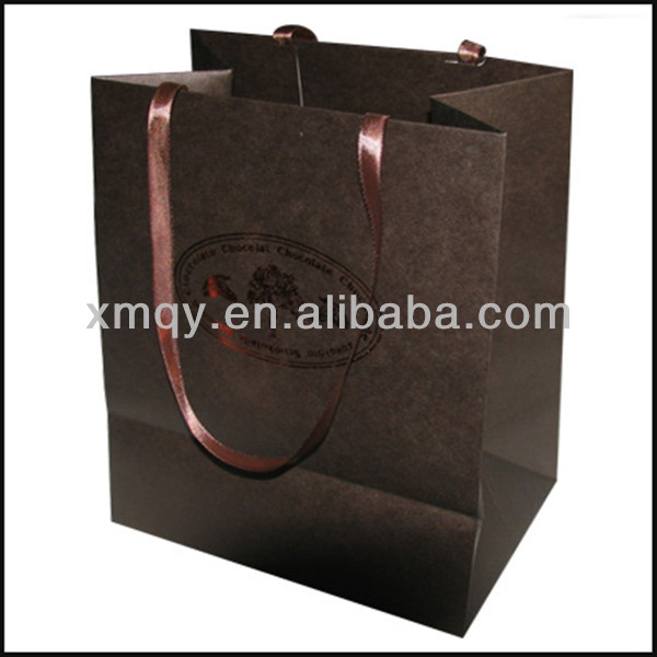 Fashion Gift Bag black paperboard Packaging Paper Bags For Food Printing Wholesale For China Manufacturer Made In China