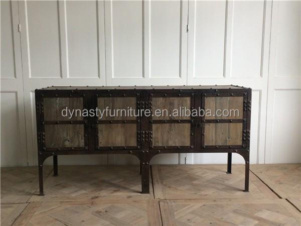 Shabby chic oude stijl meubels met metalen kast product id 60415848599 - Badkamermeubels oude stijl ...