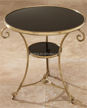 Cheap round modern glass metal round end table buy end for Cheap modern end tables