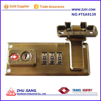 professional manufacturer TSA Sturdy Combination case Luggage Lock with key