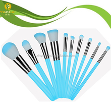 Profeesional 10 pieces Makeup Brush Set with Blue Color