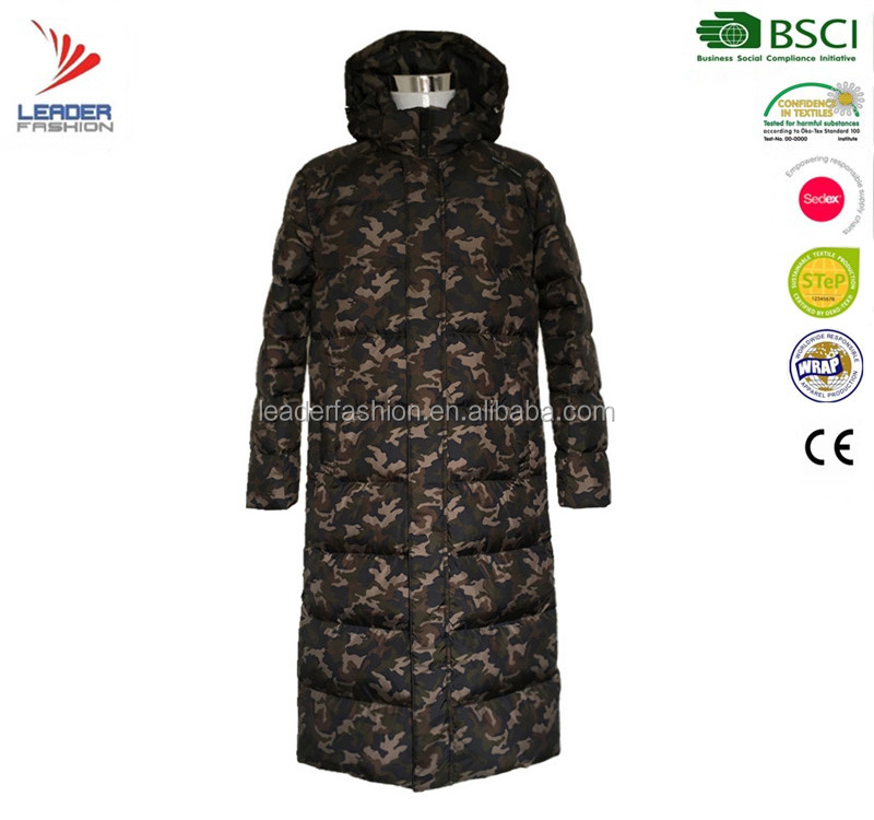 Hot Sale Mens Winter Camouflage Parka Jacket Military Coat Down Feather