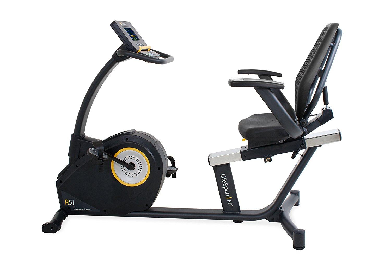 ec9fe3148a1 Get Quotations · LifeSpan Fitness Recumbent Bike LifeSpan R5i Recumbent  Stationary Bike
