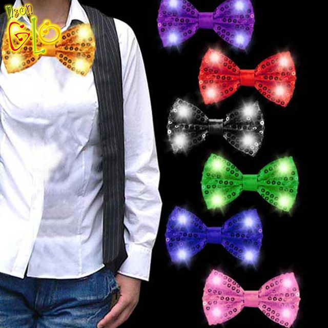 Party Favor Flashing New LED Bow Tie