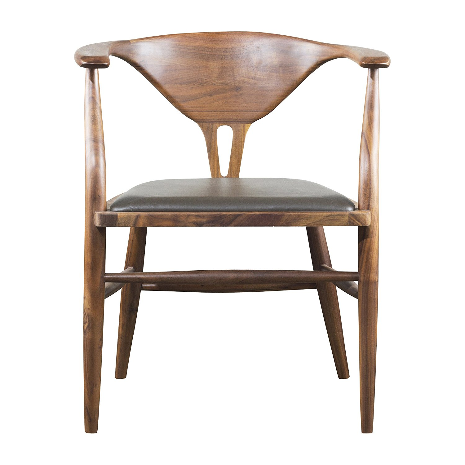 H.D. Buttercup Peking Modern Dining Chair in Walnut, Mid Century Modern Chair, Olive