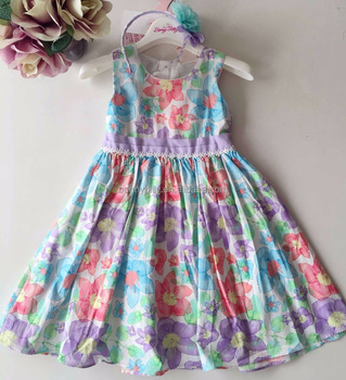 f12869a3c Bonnybilly Toddler Girls Flower Princess Dress with Floral Print 2-11T Come  With Headband