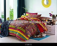 Indian style design bed sheets set cotton fabric bedding set