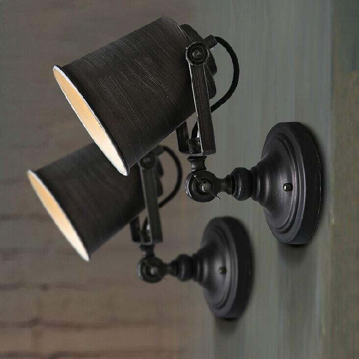 Robot Vintage Wall Light Fashion Bedroom Bedside Lamp For Home Decoration Neoclical Sconce Lighting Fixture