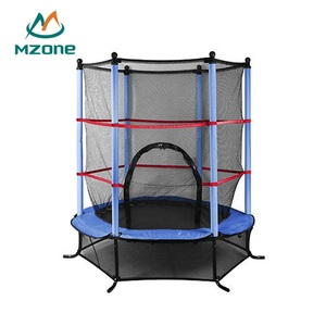 Mzone 4.5ft 55 inch mini kids indoor jumping children trampoline bed with enclosure