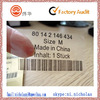 Plastic Transparent PVC custom labels clear stickers for clothing