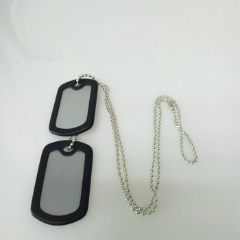 Wholesale fashion custom metal blank military dog tag