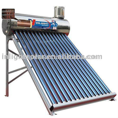 Caldaia in pressione di acqua solare integrato con for Serbatoio di acqua di rame