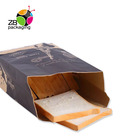 Custom Print Plastic Metalized Biscuit Candy Bread Toast Food Packaging Craft Paper Bag