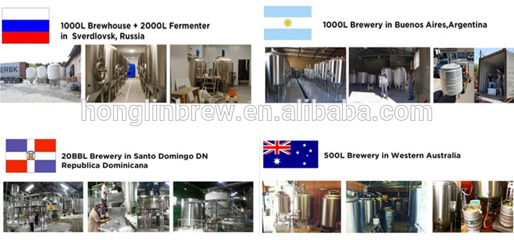 2000L beer fermenting turnkey plant for bar,brewing equipment