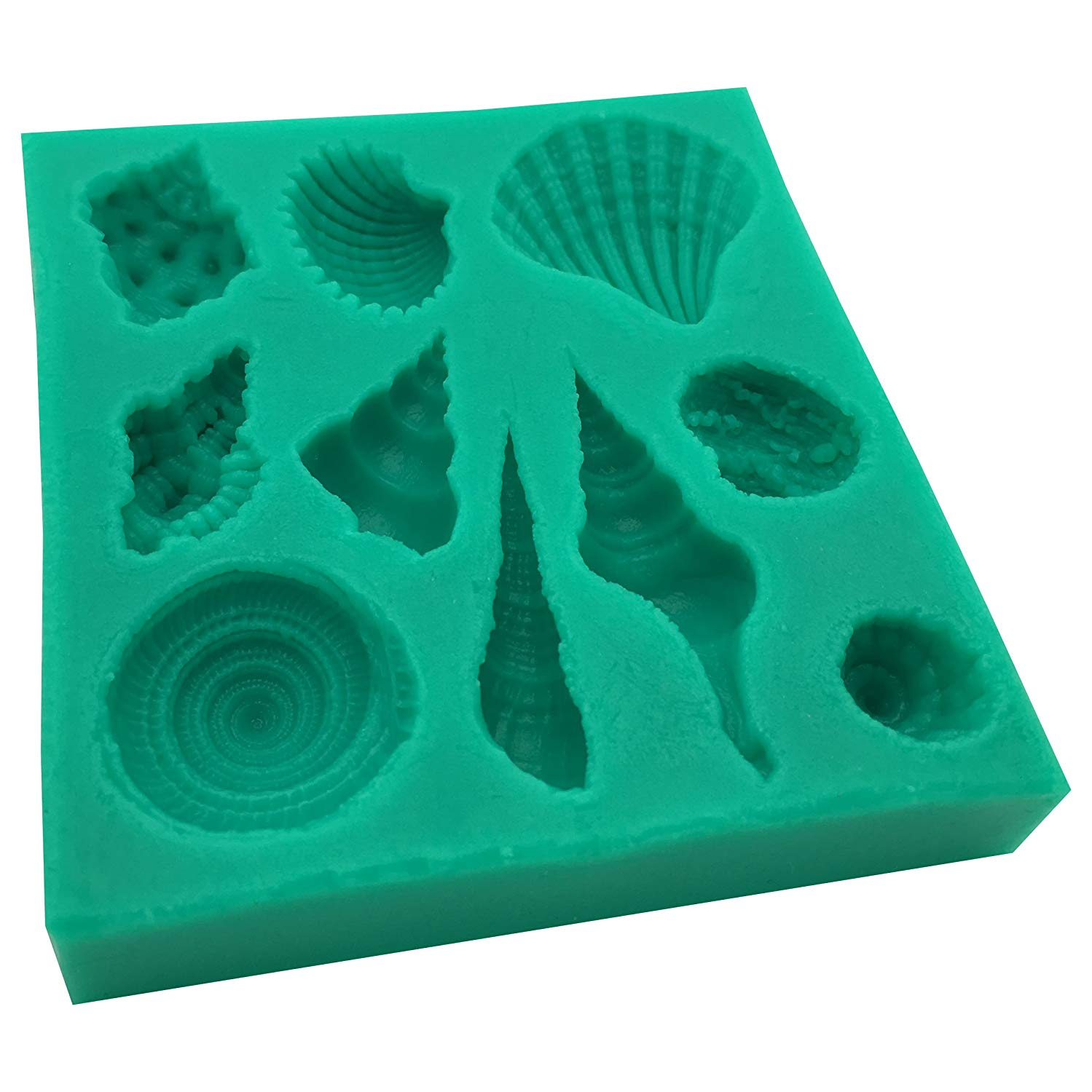 Okallo Products Silicone Seashell Mold for Chocolates, Candy, Baking, and More Sea Shells