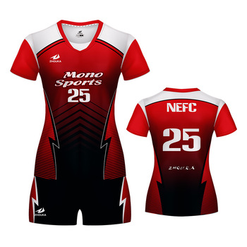 a447be1fef3 red sublimation volleyball jersey womens volleyball uniforms badminton and  volleyball combo set