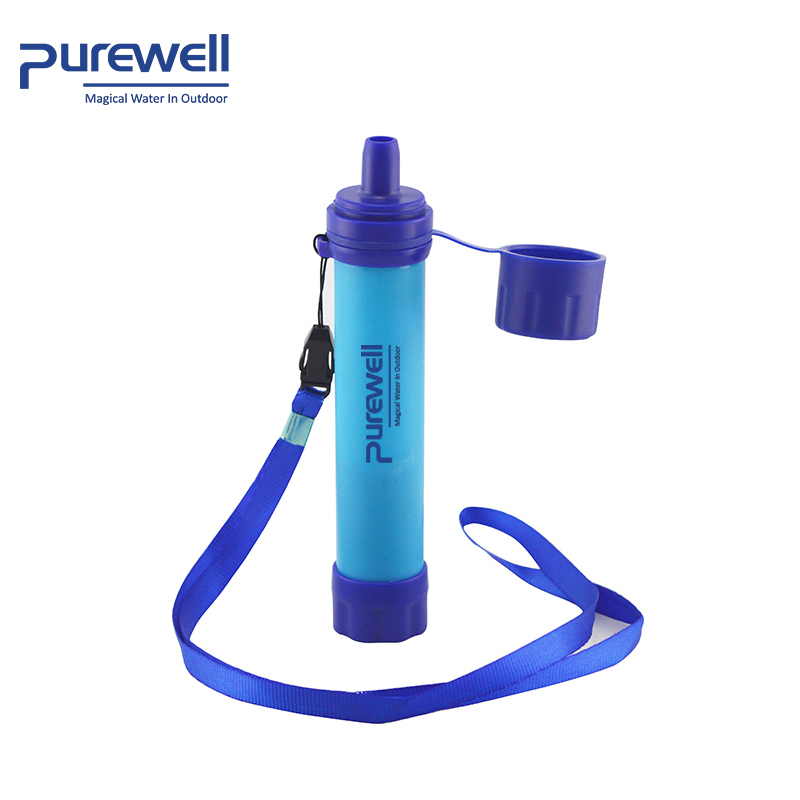 Survival Personal Water Filter Straw 0.01 Micron UF Membrane Filter Life 1500L Straw Portable Filter