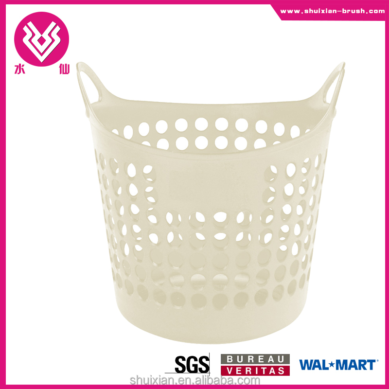Flexible PP plastic multifunction laundry storage baskets