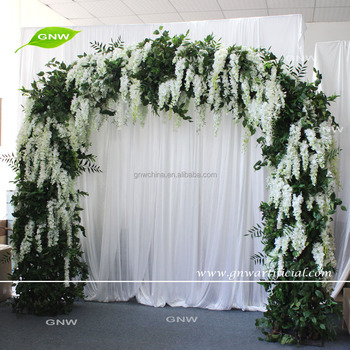 Gnw Metal Flower Garden Arch Wedding Stage Backdrop Decoration Buy