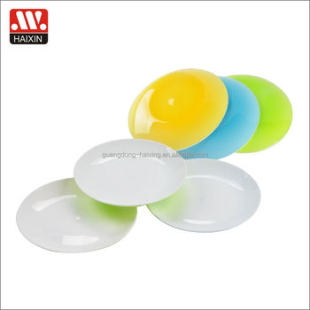 Haixing colorful plastic plate two color kid dinner plate reusable microwaveable dia19.cm wholesale  sc 1 st  Alibaba & Haixing Colorful Plastic Plate Two Color Kid Dinner Plate Reusable ...